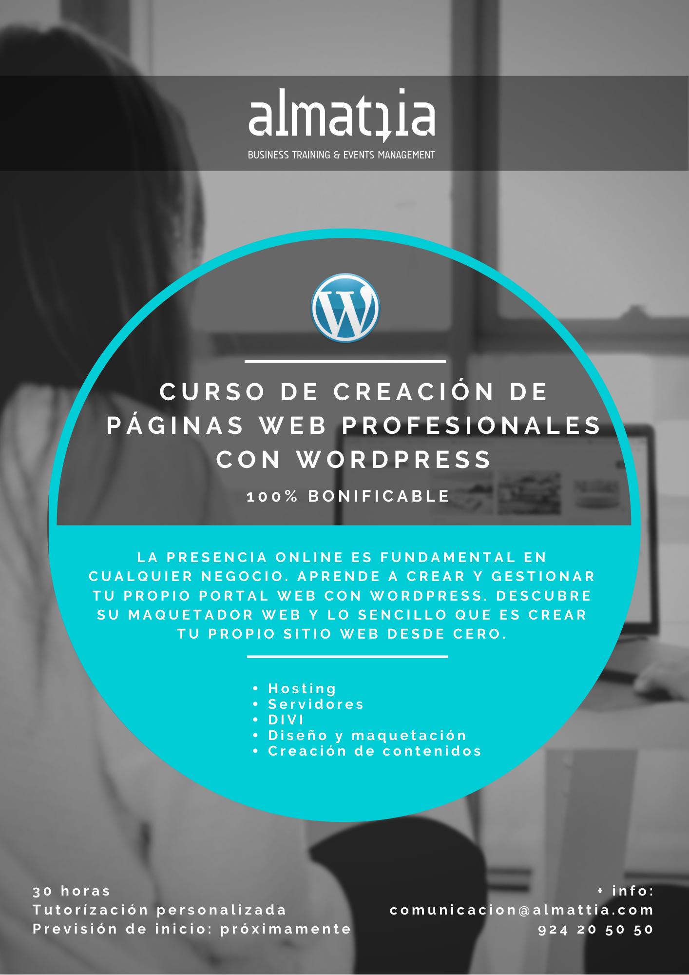 CURSO ONLINE DE CREACIÓN DE WEBS PROFESIONALES CON WORDPRESS